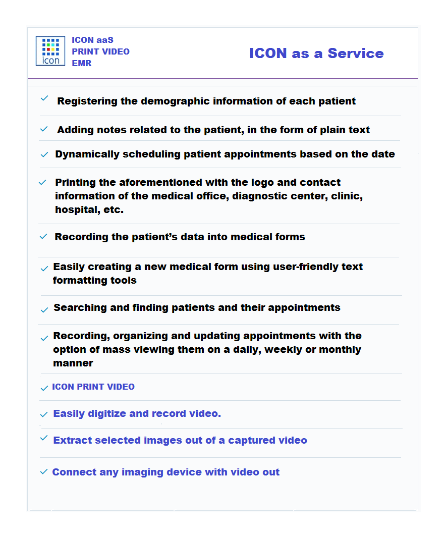 ICON as a Service EMR & Print Video